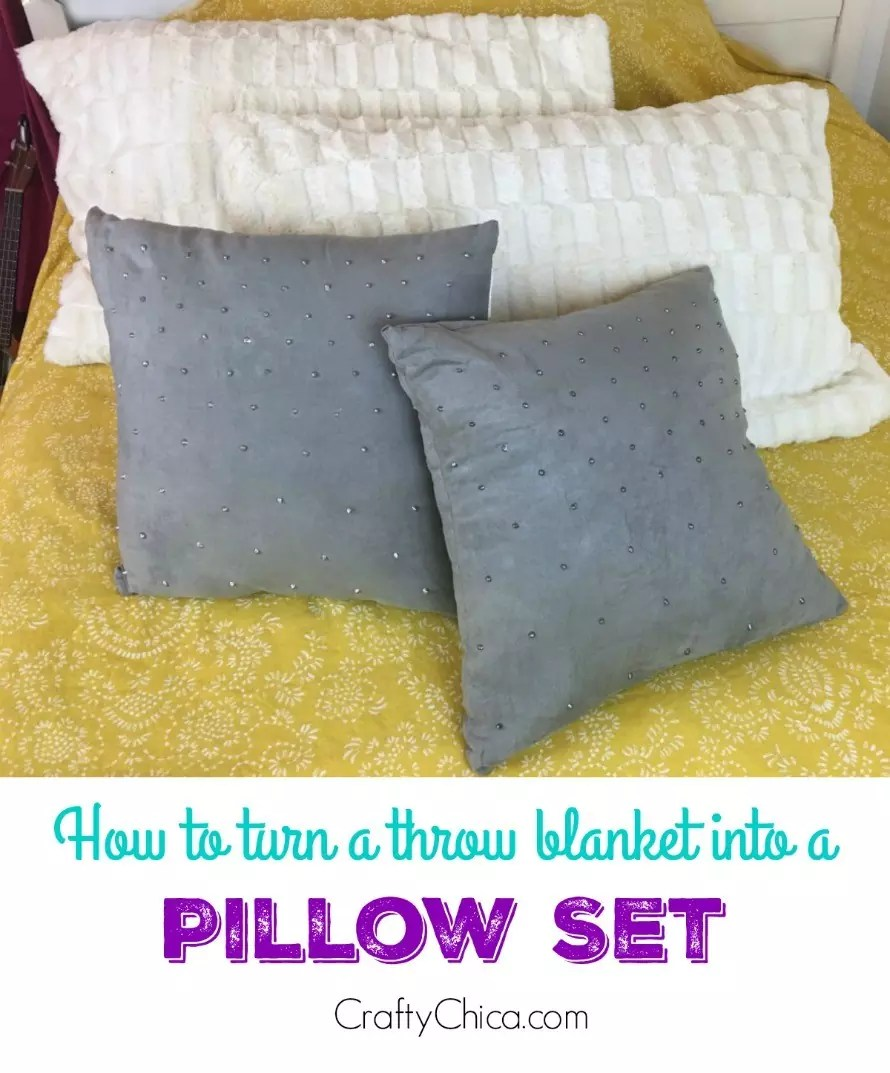 make pillows from a throw blanket the