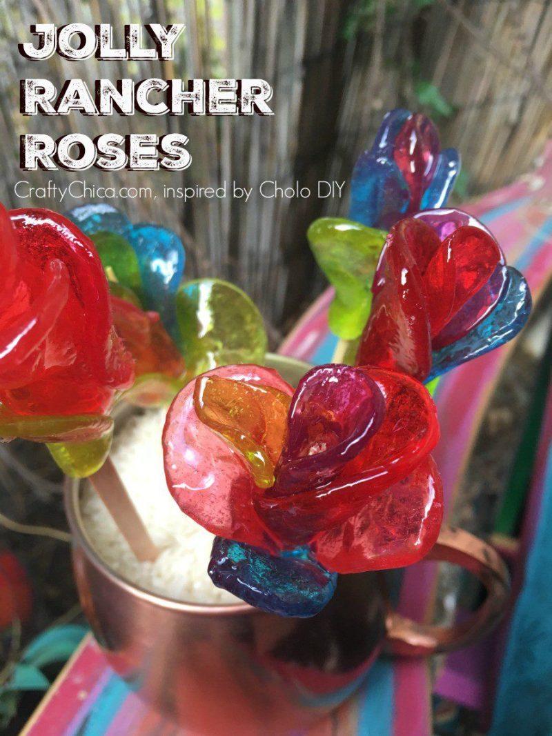 Jolly Rancher Flowers DIY