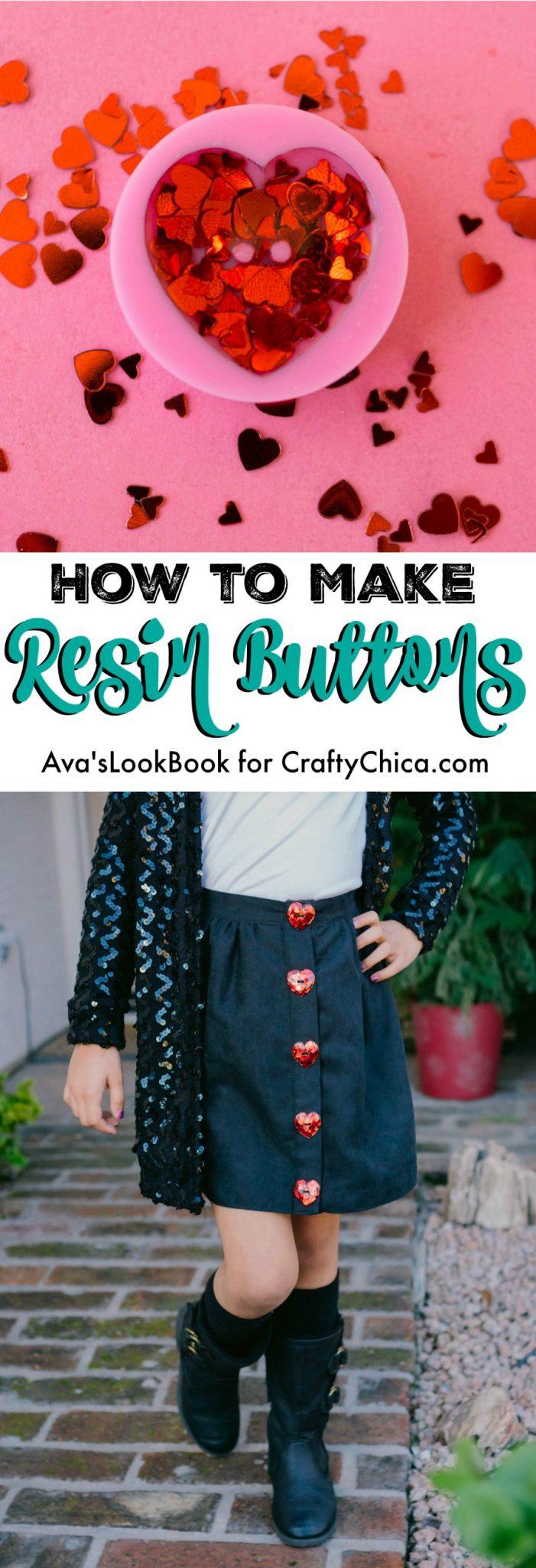 How to make resin button, CraftyChica.com
