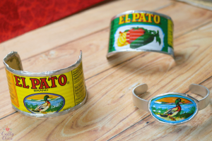 El Pato Sauce Can Bracelets by Crafty Chica.