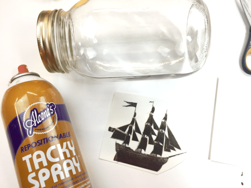 Ship in a bottle craft by CraftyChica.com