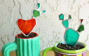 Stained Glass Cactus DIY by Crafty Chica.