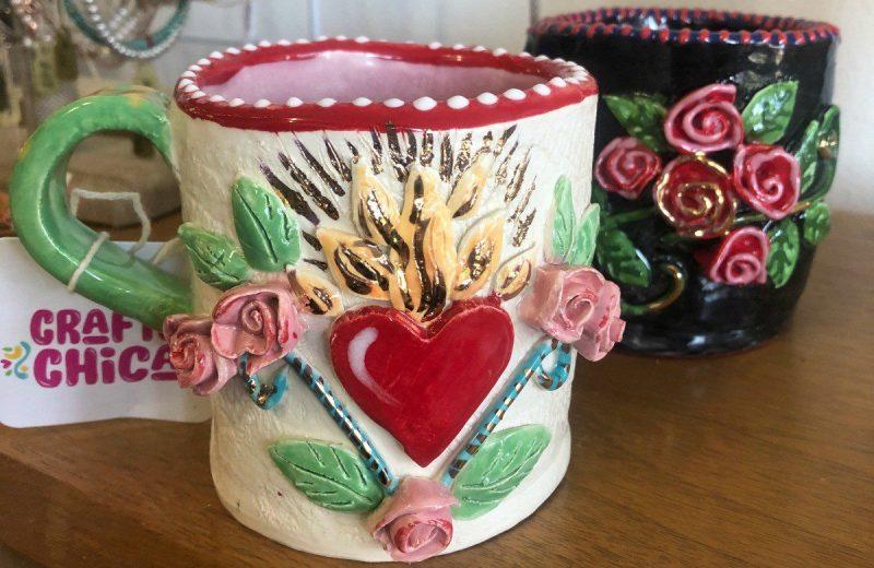 Hand-built-mug by Crafty Chica #craftychica #ceramics #handbuildingclay