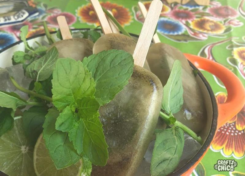 Green Tea Paletas #craftychica #paletaweek #greentea #paletas