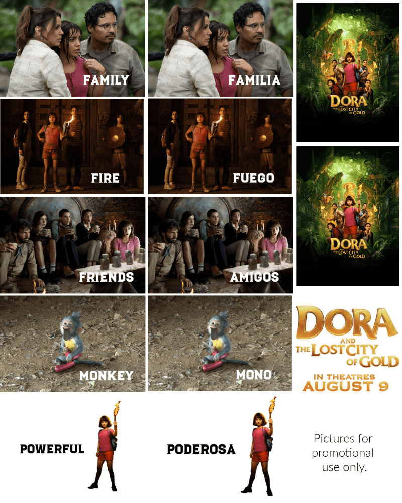 Dora the Explorer & The Lost City of Gold printable. #craftychica