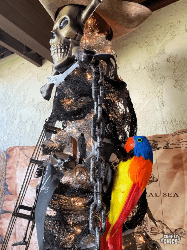 pirate halloween tree #craftychica #treetopia