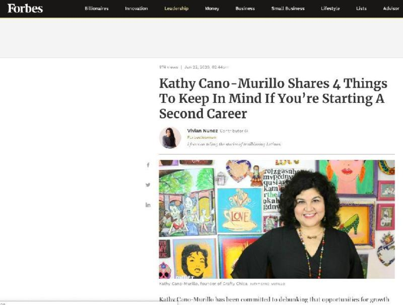 Crafty Chica featured on Forbes #craftychica #latinaentrepreneur