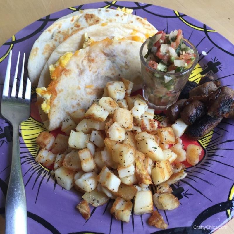 breakfast taco- ground meat recipe- #craftychica #recipes