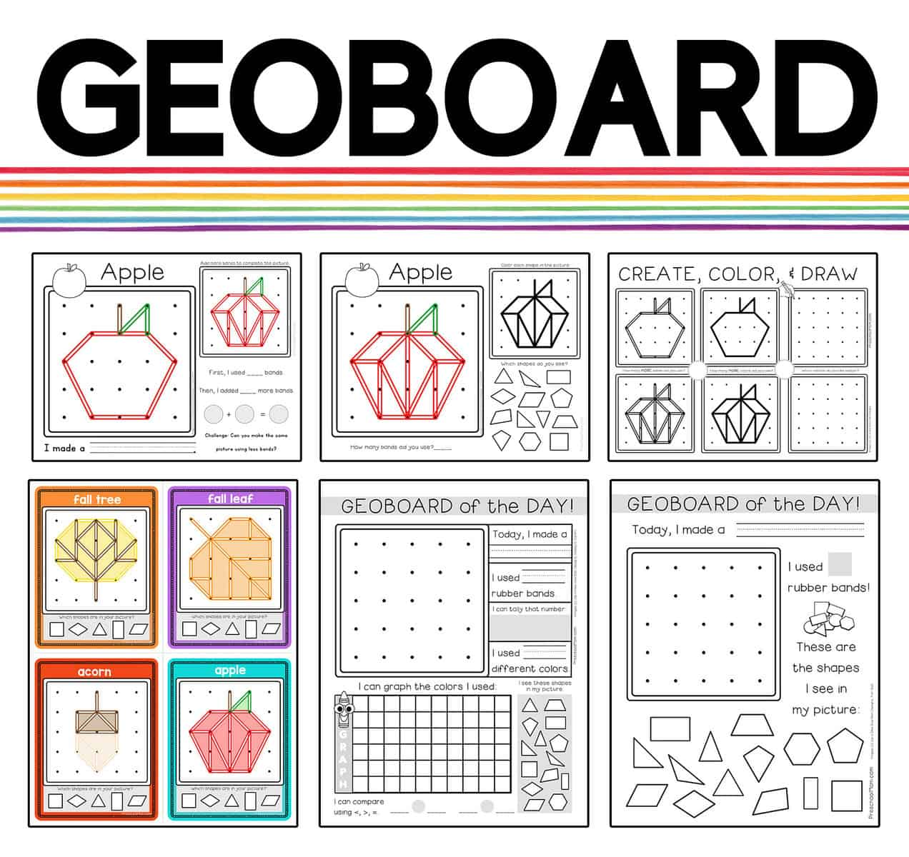 Geoboard Activity Bundle