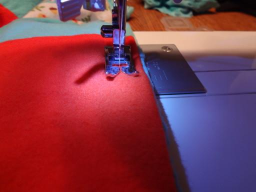 Top stitch all the way around.