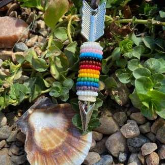 Two Spirit Pride necklace
