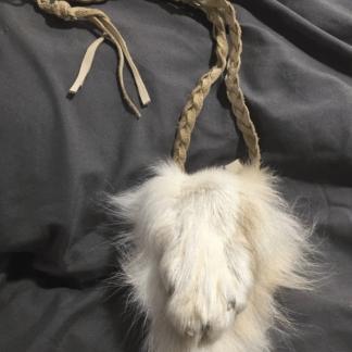 Wolf paw medicine bag