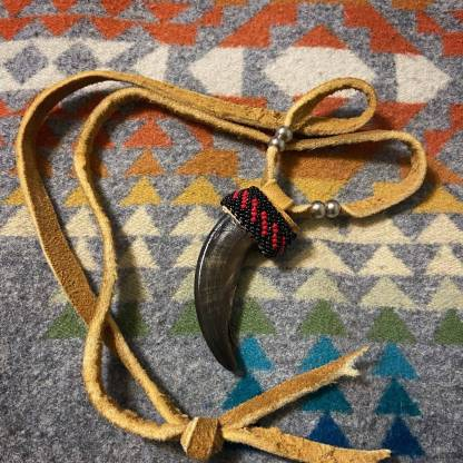 Real beaded Grizzly Bear claw Native American Made