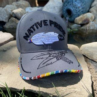 Two Spirit Pride Beaded Hat