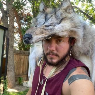 Wolf skin Headdress