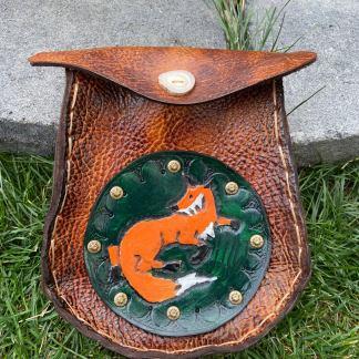 Fox Sporran leather tooled