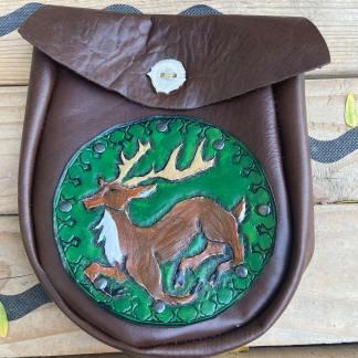 Leather tooled sporran