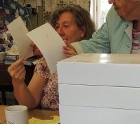 Anne hiding behind kits