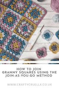 How to join Granny Squares using the join as you go method, a FREE crochet tutorial