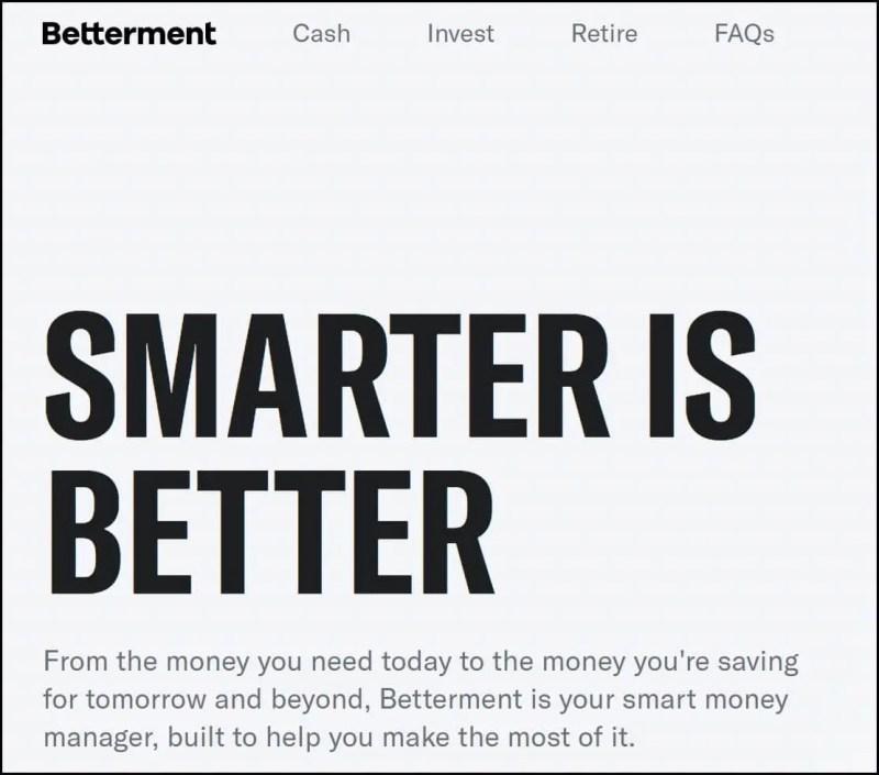 Betterment Smart Money Manager