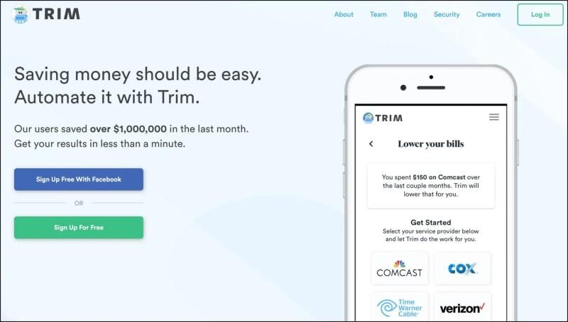 Trim Recurring Fee Cutting App