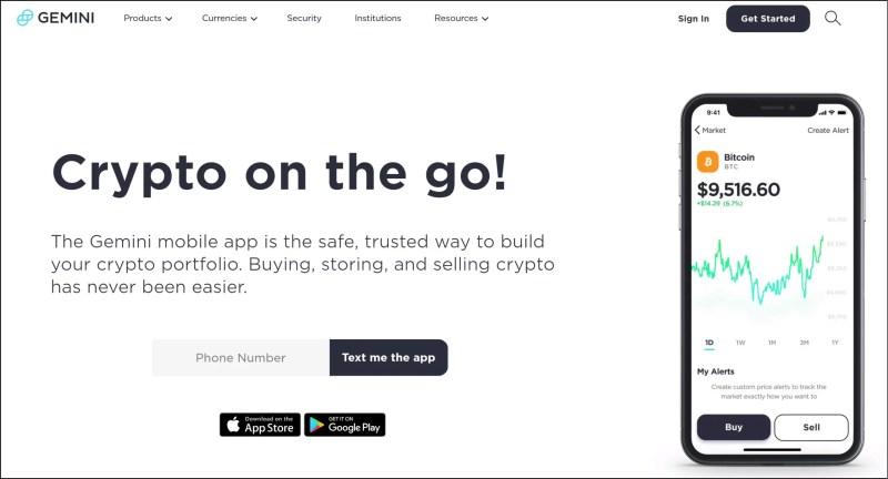 Gemini Crypto App