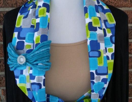 Geometic Fabric Cowl Scarf