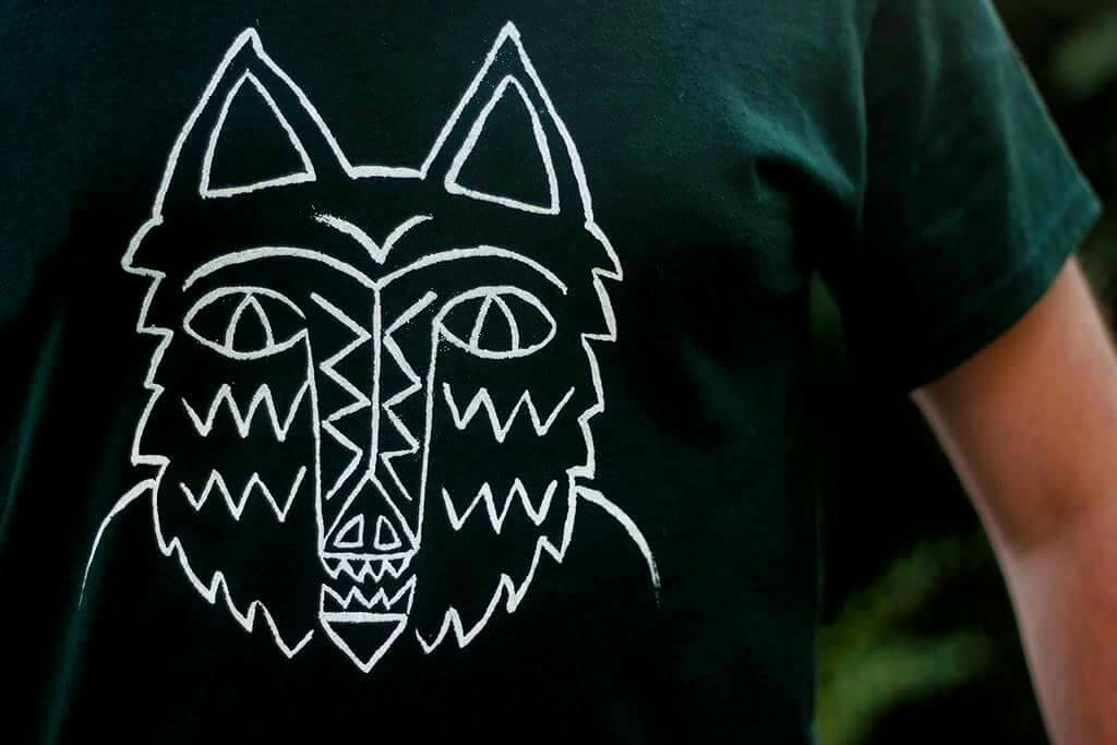 hand printed hunter shirt