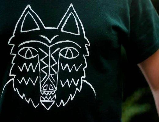 hand printed hunter shirt