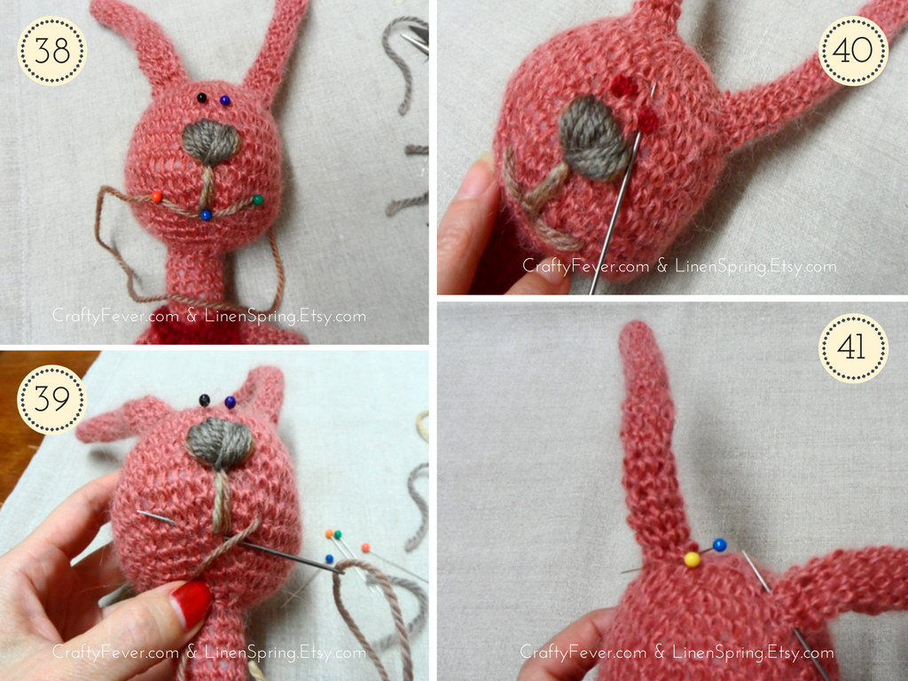 Crochet Pattern Bunny Soft Toy