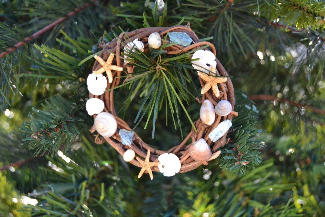 Nautical Christmas Tree Wreath Ornament