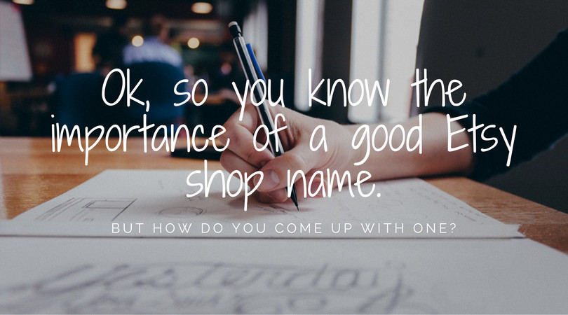 Tips for Creating an Etsy Shop Name