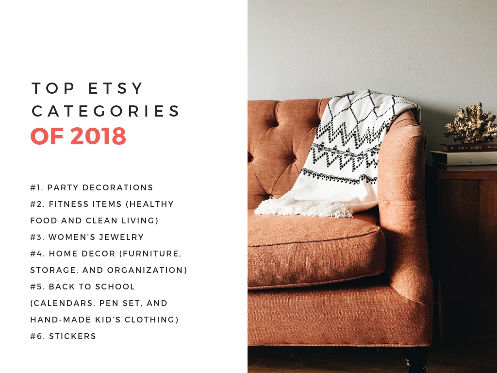 List of the best etsy categories