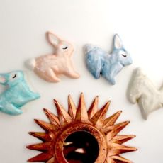 Handmade Rabbit Brooches