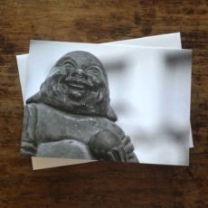 Laughing Buddha note card