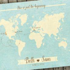 Wedding Guest Book Alternative Map