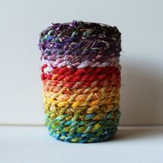 6 oz. Mason Jar & Fabric Rope Candle Holder