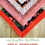 Self Binding Cloth Napkins Crafty For Home