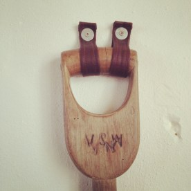 Lovely Vintage D Handle spade, with a happy face! :D