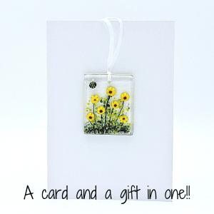Floral Light Catcher Keepsake Card