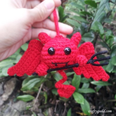 Cute Devil Amigurumi for Halloween