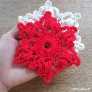 how to crochet a snoflake 2