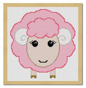 sheep free cross stitch pattern 1-01