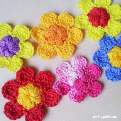 Crocheted Little Blossom Flower for Spring