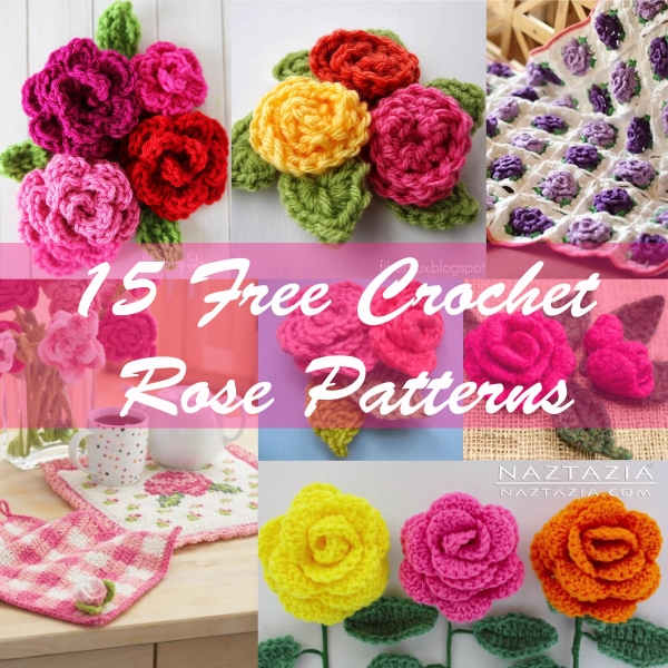 Crochet Thread Rose Pattern Free : 15 Free Crochet Rose Patterns