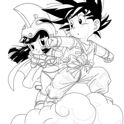 Dragon Ball Coloring Page 02