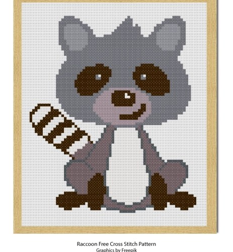 Free Raccoon Cross Stitch Pattern