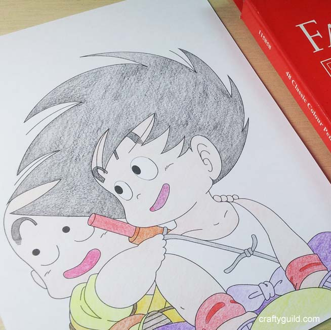 Goku And Krillin Free Coloring Page From Crafty Guild