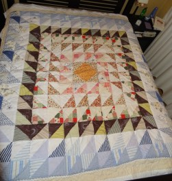 First quilt made with scraps of material