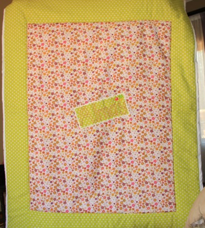 Quilt for a child single bed